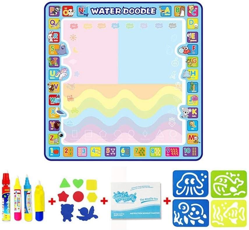 Logo FFC Coolplay 100x100cm Magic Water dell'illustrazione Mat Doodle Mat & Disegno 4 Penne & 1 VALORI Serie Pittura Giocattoli Consiglio educativi for i Bambini (Color : Type G 120x90cm) Type C 100x100cm