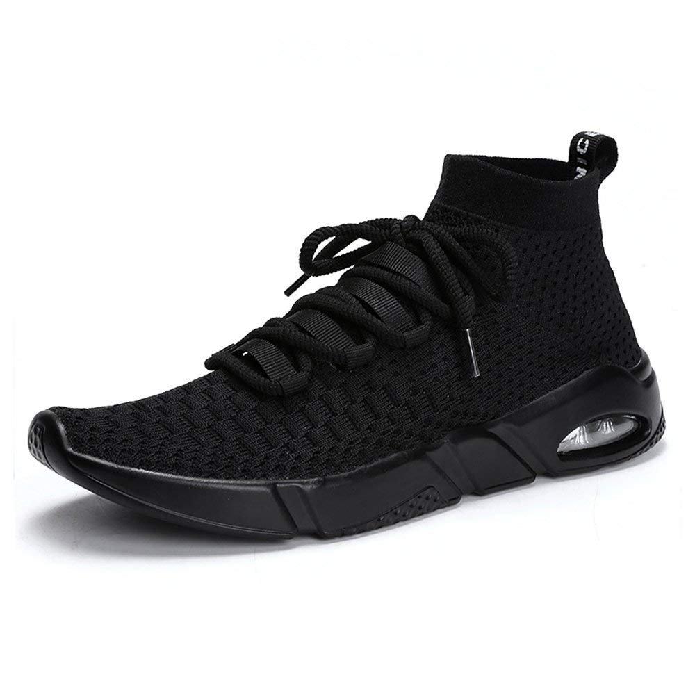 Black 45 EU 2018 Men's Sport shoes Flat Heel Lace up Solid color Leisure Sport shoes (color  Black, Size  41 EU) (color   Red, Size   45 EU)