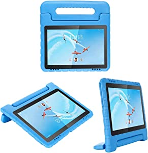 i-original Compatible with Lenovo Tab E10(TB-X104F) 10.1 Inch 2019 Case,Shockproof EVA Case for Kids Bumper Cover Handle Stand,Convertible Handle Lightweight Protective Cover (Blue)