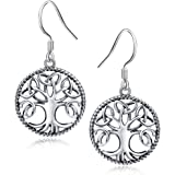 APOTIE 925 sterling silver Tree of Life Irish Triquetra Trinity Celtic Knot Pendant Necklace and Earrings For Women