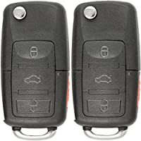 Keyless2Go Keyless Entry Flip Car Key Replacement for Vehicles That Use FCC KBRASTU15 and NI04T - 2 Pack