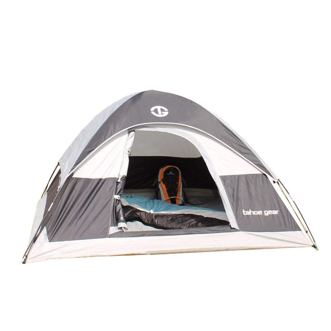 Tahoe Gear Powell 3 Person 3 Season Dome Camping Frame Tent, Black and Grey