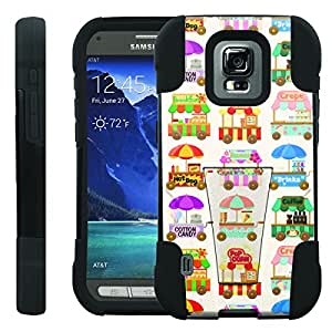 [ManiaGear] Rugged Armor-Stand Design Image Protect Case (Food Cart) for Samsung Galaxy S5 Active SM-G870A