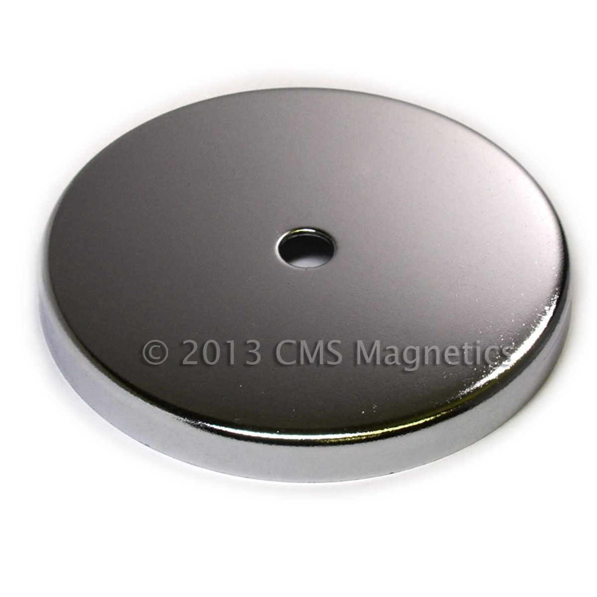 CMS Magnetics® 210 LB Holding Power Round Base Magnet RB90 4 7/8'' Cup Magnet 2-Count