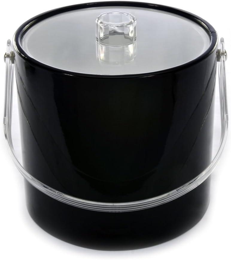Mr. Ice Bucket 708-1 Regency Black Ice Bucket, 3-Quart