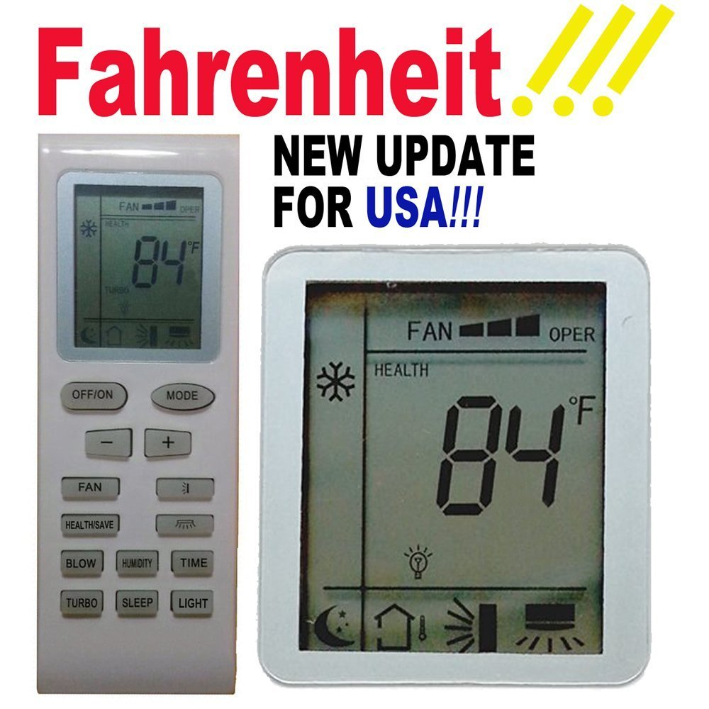 Replacement GREE Air Conditioner Remote Control Model Number (Part Number)  YB1F2 YB1F2F YB1FA YB1FAF