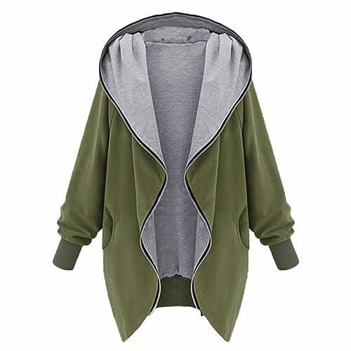 CXYP – Abrigo – para mujer verde Ejercito Verde