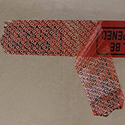 """Solitary Walker Tamper Evident Security Tape Legend """"Marks Will Be Left Once Opened"""" (2 in.)"""