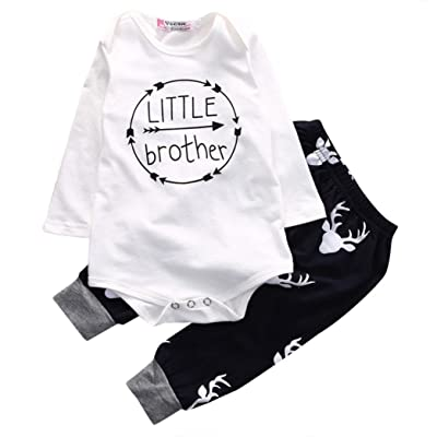 ba93009f9 For 0-18 Months Baby Boys,DIGOOD Infant Newborn Baby Boy Letter Print  Romper Tops+Pants Outfits Clothes Set Suit