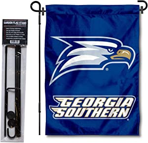 College Flags & Banners Co. Georgia Southern University Garden Flag and Flag Stand Pole Holder Set