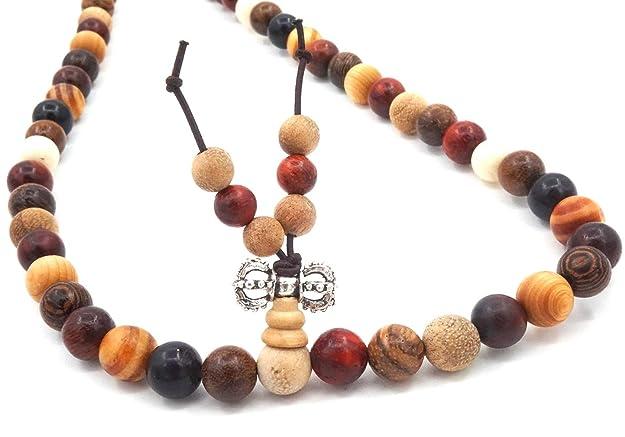 Holzperlen Buddhist Gebet Holzarmband Halskette Gebetarmband Wickelarmband 8mm