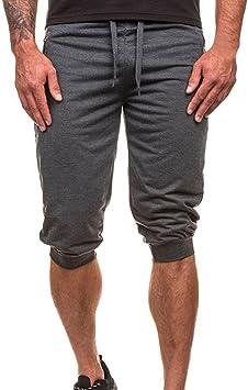 Pantalones cortos Hombre , Verano Pantalones chándal de hombre jogger pantalones Baile Ropa deportiva Pantalones Harem holgados Slacks Pantalones deportivos Pantalones cortos casual de playa con bolsillo: Amazon.es: Deportes y aire libre