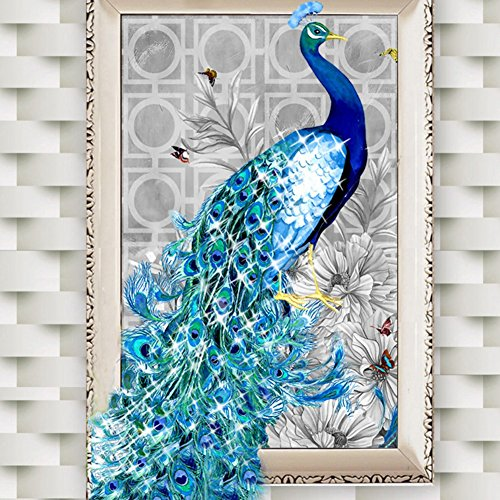Luxsea 5D Embroidery DIY Diamond Peacock Painting Mosaic Needlework Picture Home Decor Art