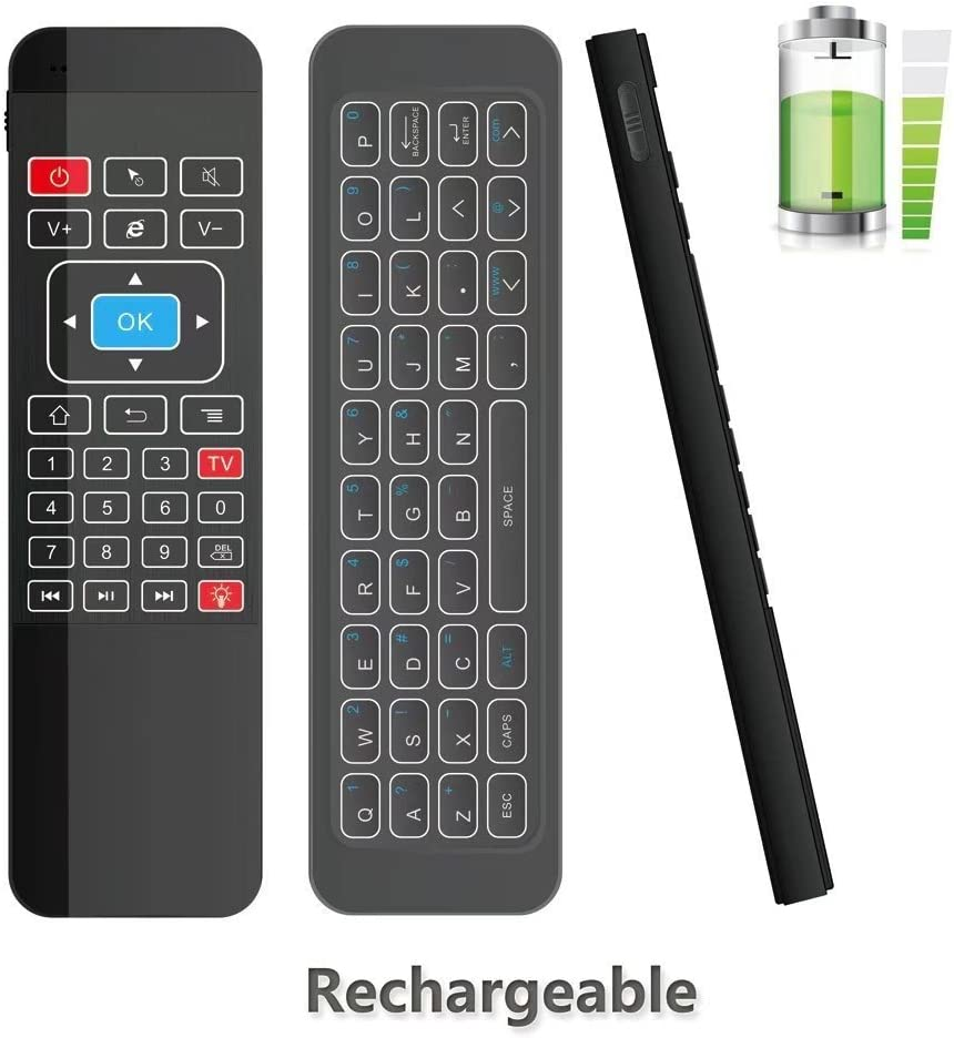 Mando a distancia inalámbrico con 3 sensores para Google Android TV, IPTV, HTPC, Windows, Mac OS, PS3, de Tripsky: Amazon.es: Informática