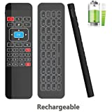 Tripsky P3 Backlit 6-axis 2.4GHz Mini Portable Wireless Air mouse Remote Control Keyboard, 3-Gyro + 3-Gsensor for Google Android TV Box, IPTV, HTPC, Windows, MAC OS, PS3