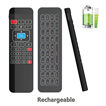 Mando a distancia inalámbrico con 3 sensores para Google Android TV, IPTV,