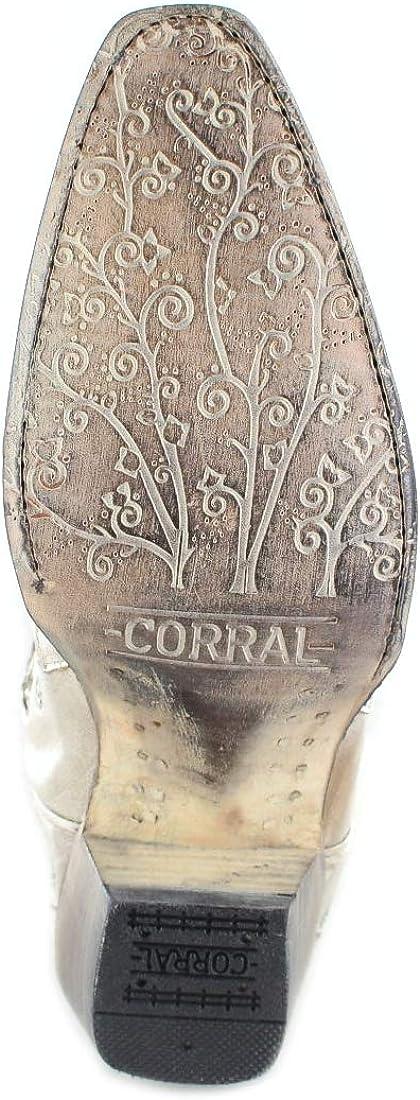 Corral Boots Damen Cowboy Stiefel A3321 White Westernstiefel Festivalstiefel Lederstiefel Weiss White