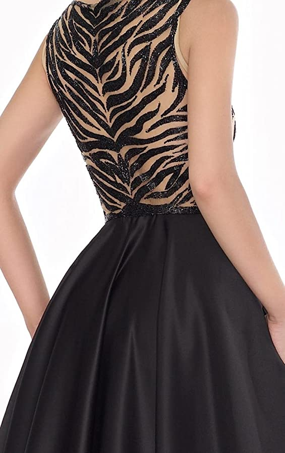 Amazon.com: Top-Sexy Black Beaded Long Gown Closed Back Prom Dresses: Clothing
