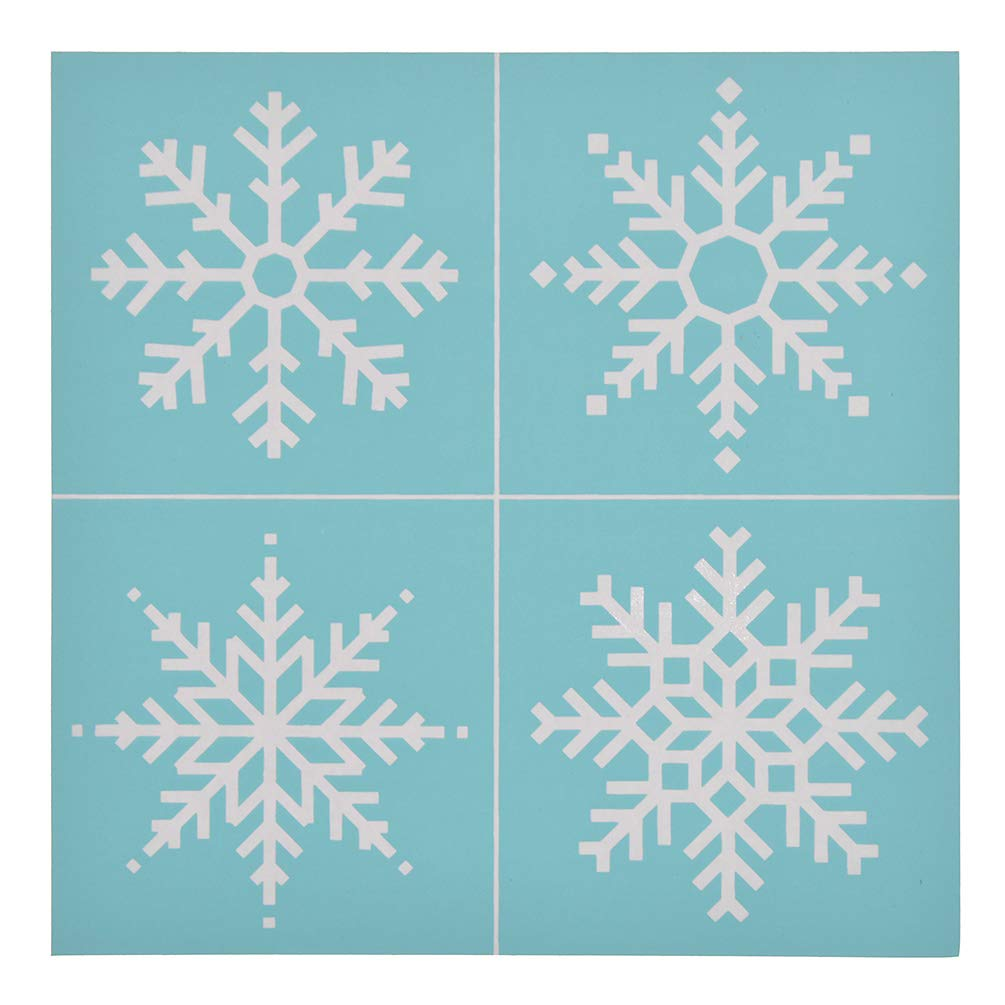 YeulionCraft Self-Adhesive Silk Screen Printing Stencil Christmas Theme Mesh Transfers for DIY T-Shirt Pillow Fabric Painting Decoration Style-03