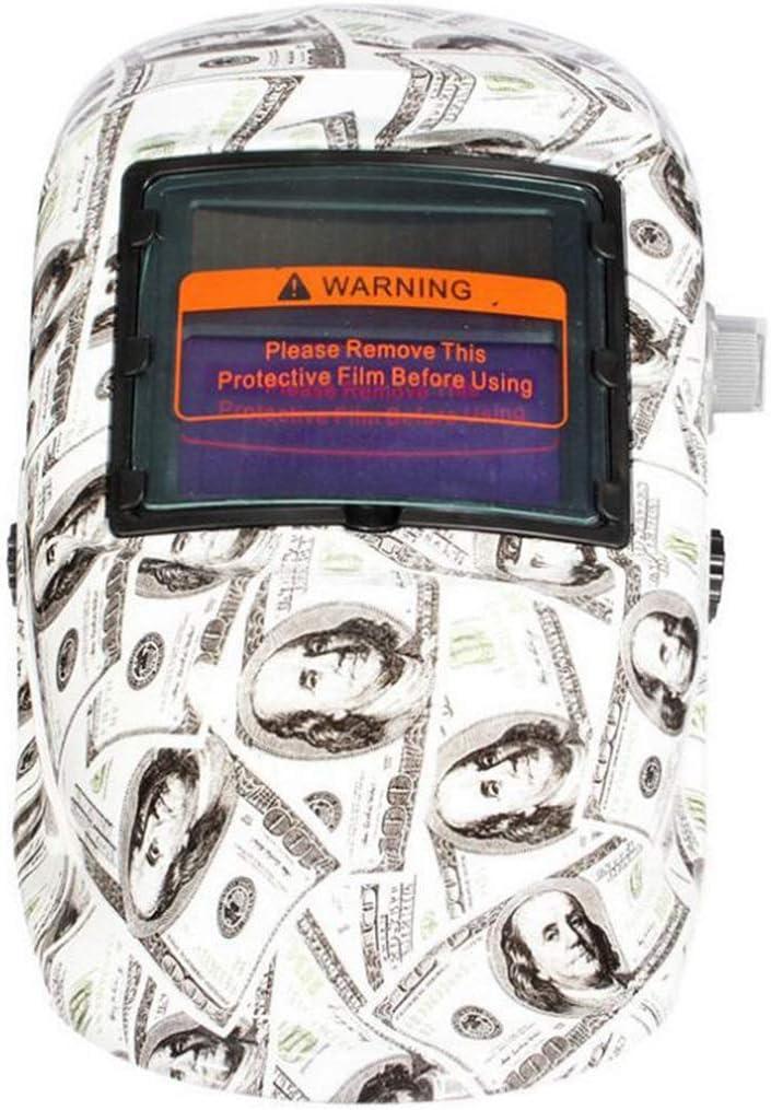 Máscara de soldador Casco de soldadura de protección contra la radiación con atenuación solar automática montado en la cabeza, transpirable y transpirable, ligero y sin peso (color : A)