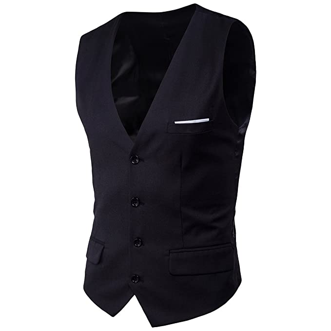 Amazon.com: kalanman para hombre formal vestido chaleco Slim ...