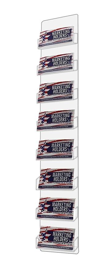 Amazon marketing holders 8 pocket business card holder acrylic marketing holders 8 pocket business card holder acrylic vertical wall mount colourmoves