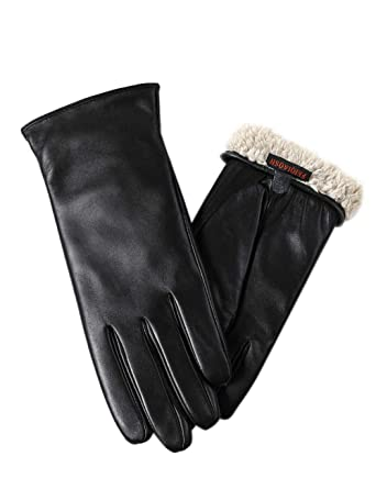17d529944129d Warm Fleece Lining Touchscreen Texting Driving Winter Womens Leather Gloves