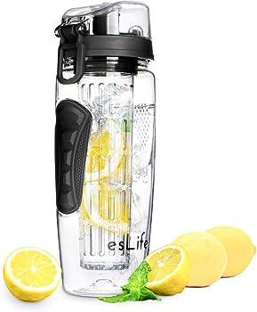 esLife 32 OZ Fruit Infuser Water Bottle