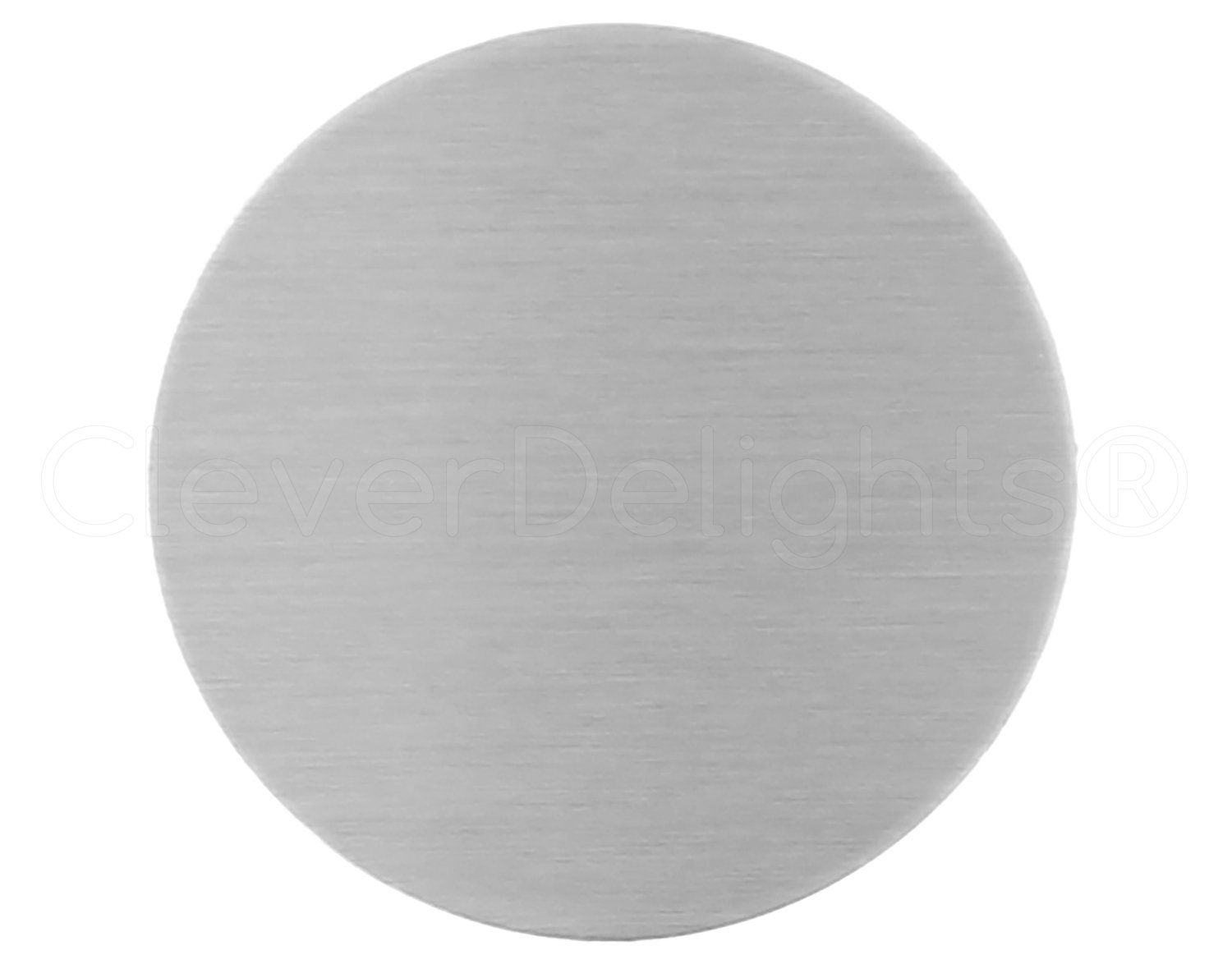 Circle Discs Tags Aluminum 14 Gauge CleverDelights 1.5 Round Stamping Blanks .063 25 Pack