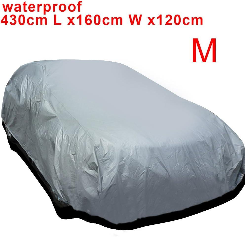 Multiware Auto Abdeckung Autogarage Ganzgarage Abdeckung Abdeckplane Autoplane Wasserdicht Uv Sonne Regen Schutz Silber M 430 160 120cm Auto