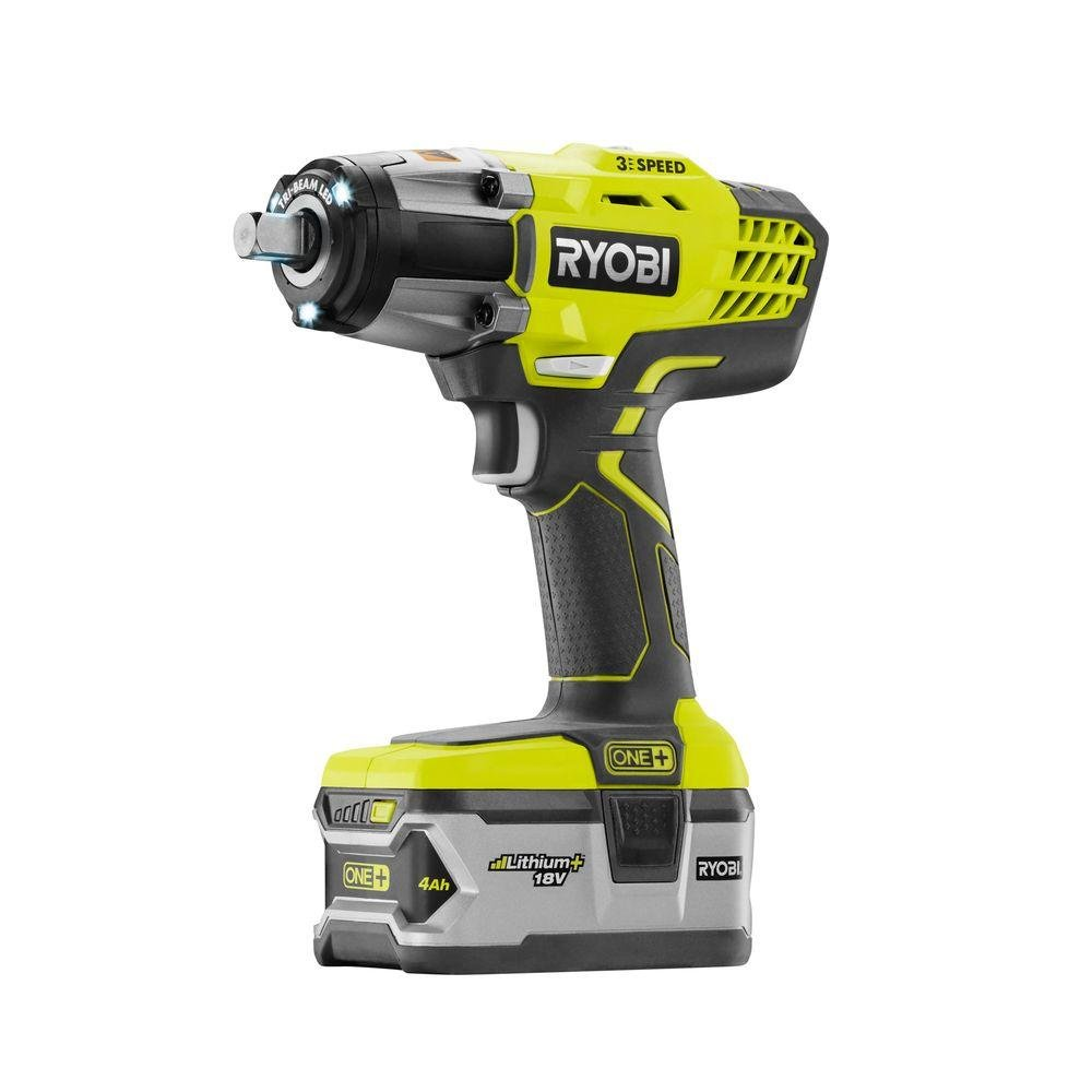 product image of Ryobi P1833 3-Speed 1/2-Inch Impact Wrench Kit