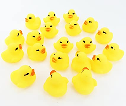 Amazon.com: 20pcs/set OPCC Mini Yellow Rubber Bath Ducks for Child ...