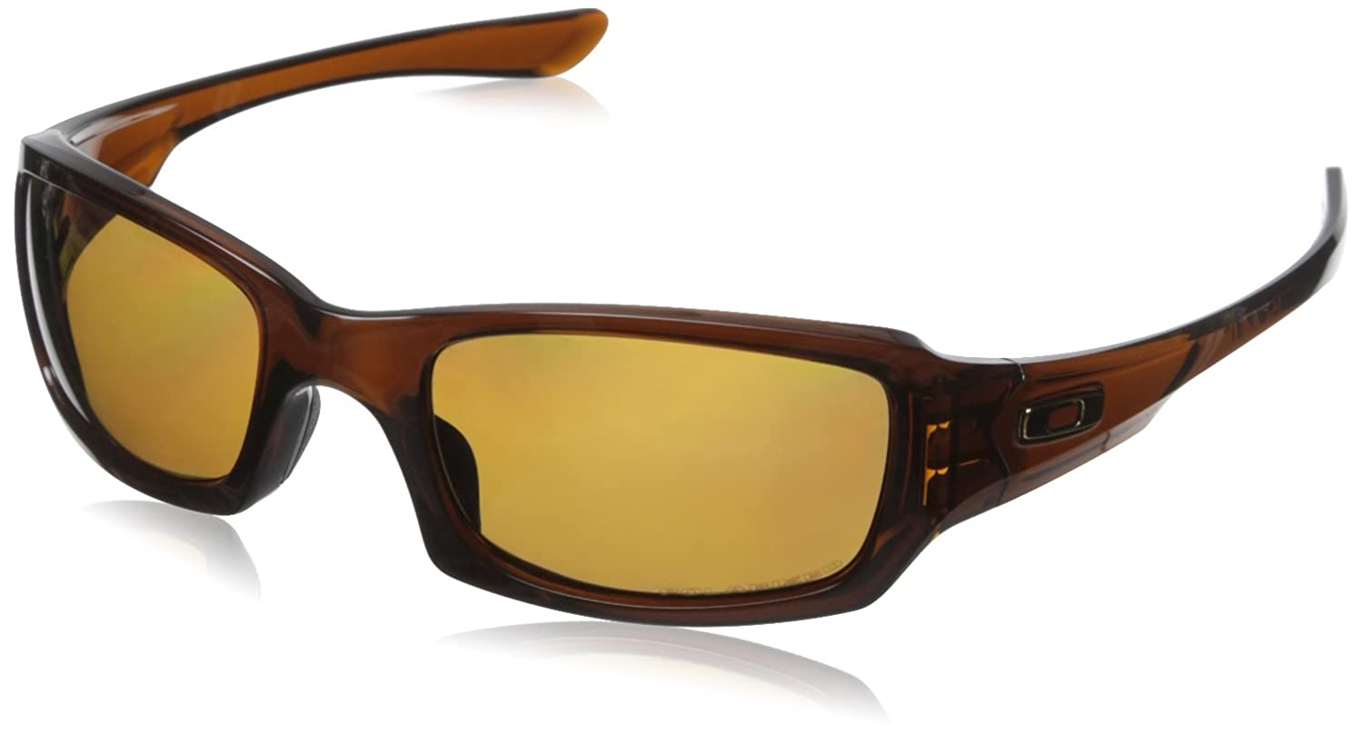 Oakley - Gafas de sol Rectangulares OO9238-08, Polished Rootbeer/Bronze Polarized (S3)