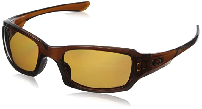 07a9e43a9aa009 Oakley Men s Fives Squared Polarized Rectangular, Polished Rootbeer, ...