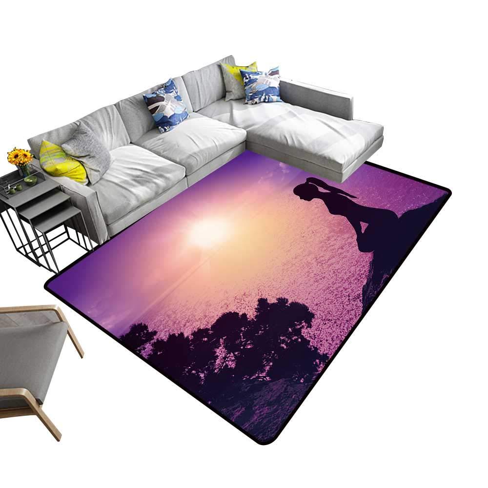 Amazon.com: alsohome Modern Abstract Area Rug Yoga and ...