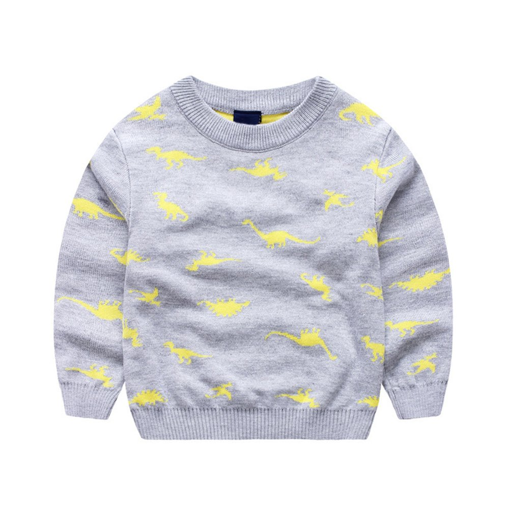 Anbaby Baby Boys Children's Double-Deck Cartoon Dinosaur Pullover Sweaters Anbaby112