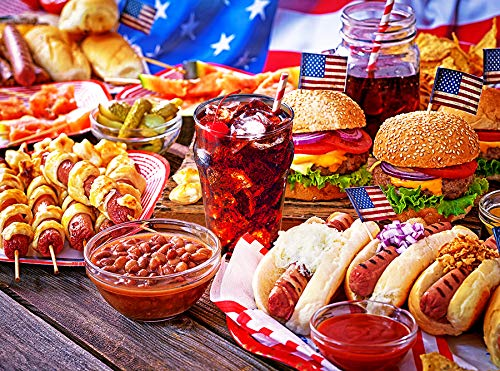 Burgers and Hot Dogs 1000 pc Colorluxe Jigsaw Puzzle ()