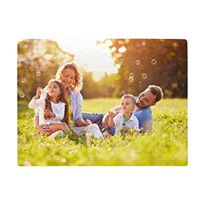 Personalized Jigsaw Puzzles from Photos Male and Female Child Blow Soap Bubbles Outdoor Rectangle Jigsaw Puzzle A3 Size 252 Piecess Birthday Gift Creative Gift Home Decor: Toys & Games