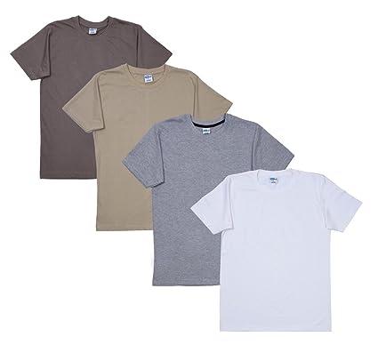 c425aae6d FLEXIMAA Men's Cotton Round Neck T-Shirts (Pack of 4) - Grey Milange ...