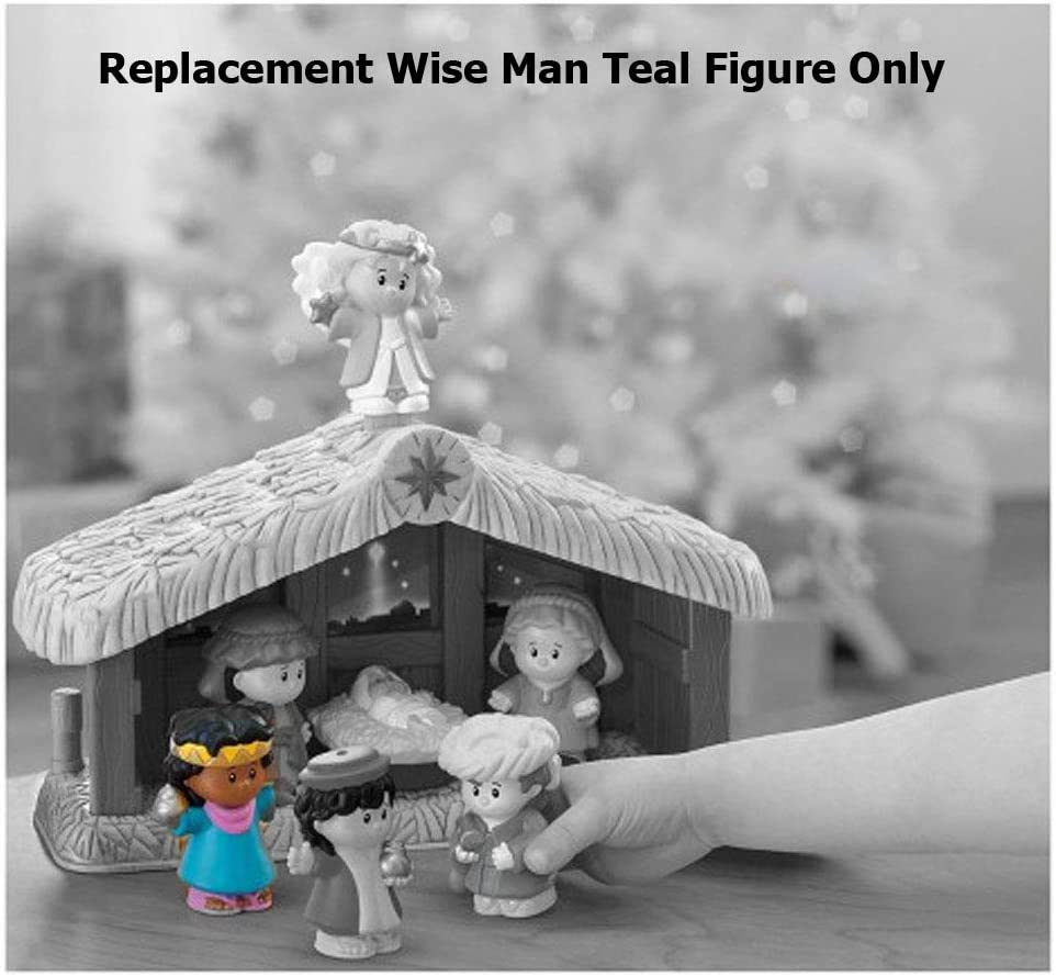 Fisher Price LITTLE PEOPLE Replacement WISE MAN TEAL Figures Nativity Manger