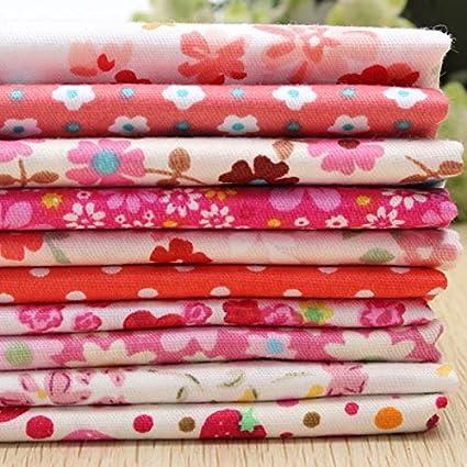 HYPNOS 10pcs muñecas de tela de algodón 40x50cm flor roja ...