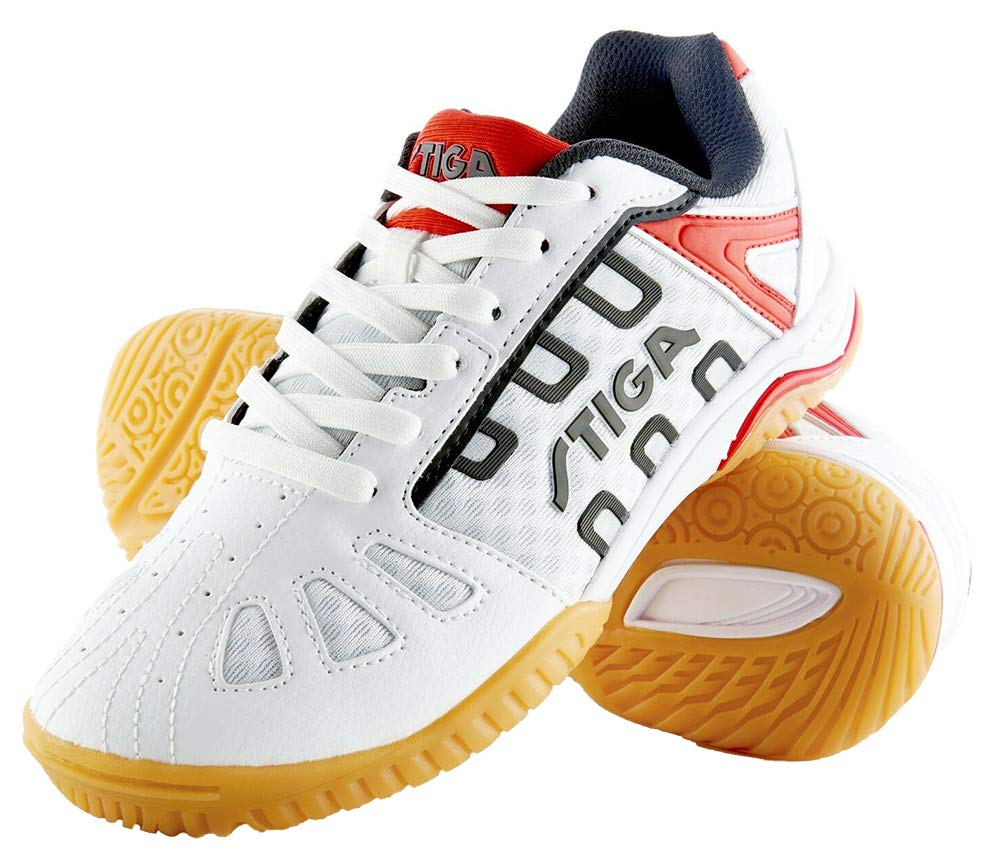 STIGA Liner II Table Tennis Shoe White RED (UK : 6.5 USA : 7) (B07CLQ8KL8) Amazon Price History, Amazon Price Tracker