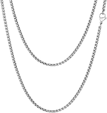 collier chaine metal homme