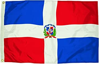 product image for Flagzone Nylon Dominican Republic Flag Heading & Grommets