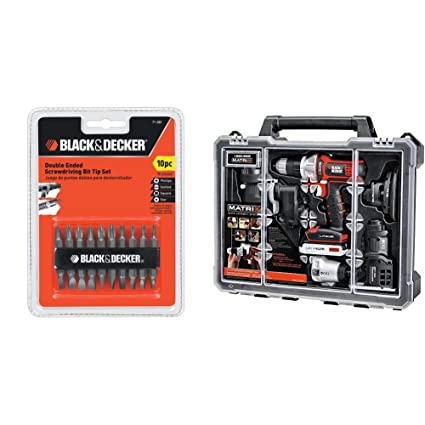 Black & Decker 71-081 Double Ended Screwdriving Bit Set, 10-Piece ...