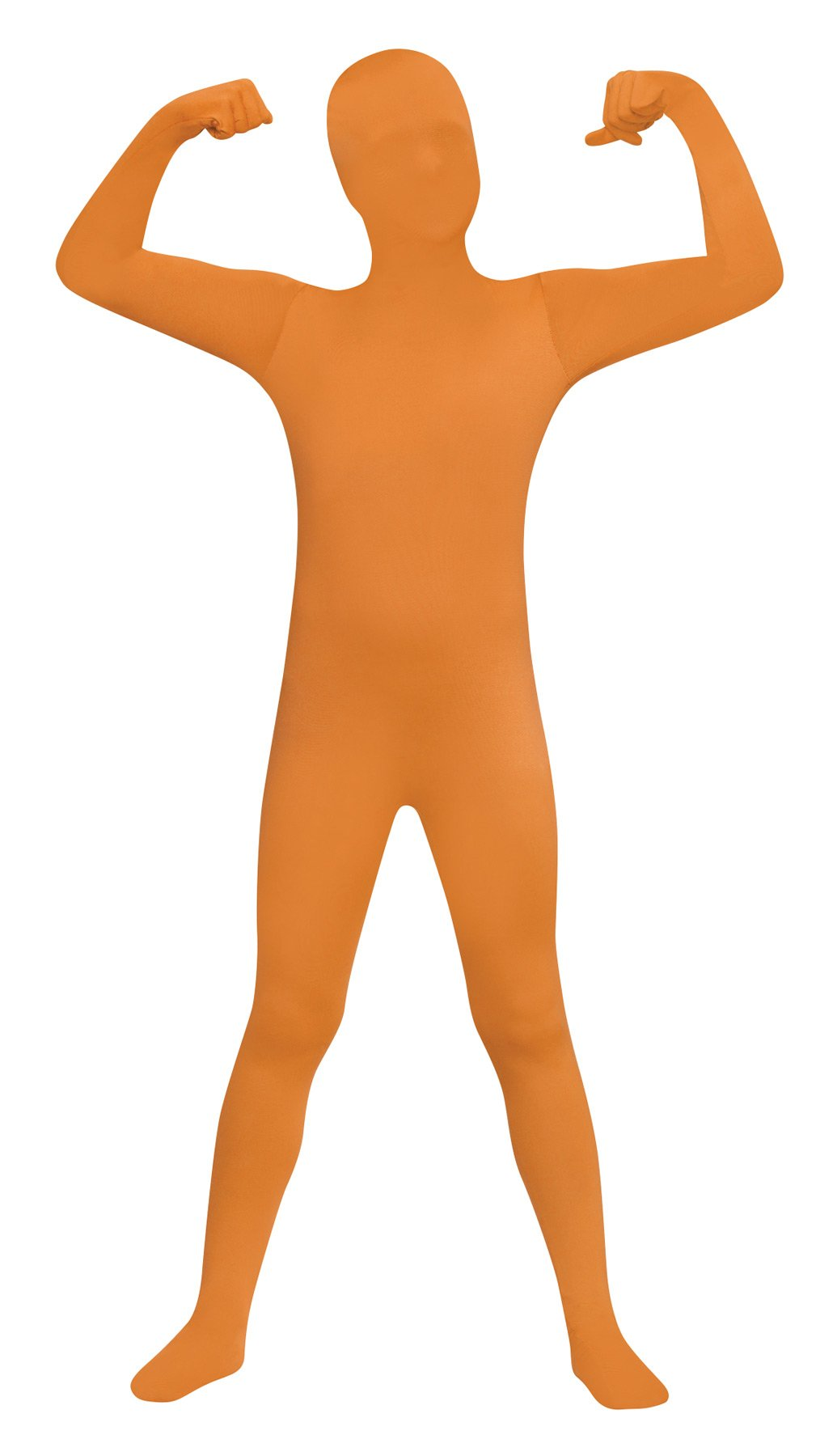 - 61f3i5HkOdL - Skin Suit Bodysuit Zentai Funny Theme Fancy Dress Child Halloween Costume, Orange, Child L (12-14)