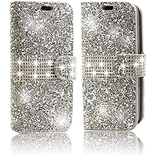 Galaxy S7 Phone Case,Vandot Diamond Bling Shiny Shining Wallet Case For Samsung Galaxy S7 Crystal Rhinstone Cover PU leather Magnetic Flip Folio Stand [Perfect Sales