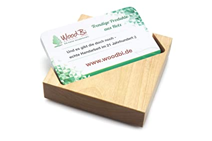 Caja de madera de tarjeta de visita, soporte para tarjeta de ...