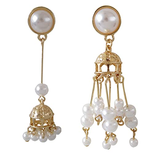 Cyqun Vintage - Pendientes de Perlas asimétricas con diseño de ...
