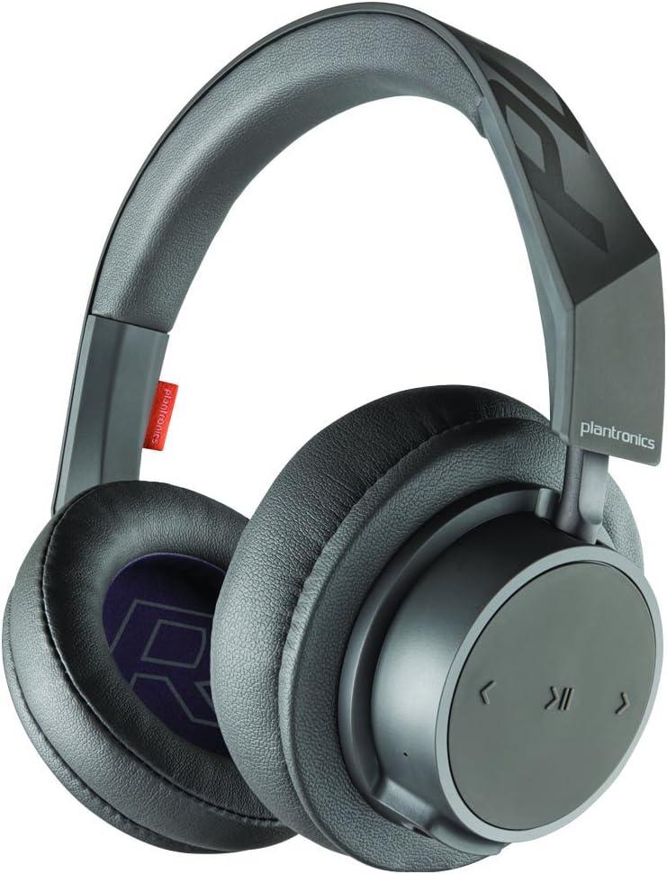 Amazon Com Plantronics Backbeat Go 600 Noise Isolating Headphones Over The Ear Bluetooth Headphones Grey 211393 99